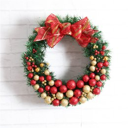 1pc Artificial Flower Xmas Wreath Door Decorative Wedding Hanging Christmas  Wreaths Garland For Home Decoration Supplies