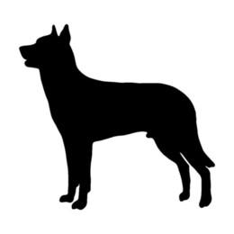 $enCountryForm.capitalKeyWord UK - 13.5*12.7CM Beauceron Dog Cute Cartoon Animal Window Decoration Stickers Motorcycle Accessories