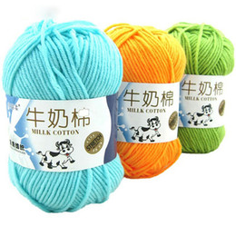$enCountryForm.capitalKeyWord NZ - 500g High Quality Warm DIY Milk Cotton Yarn Baby Wool Yarn for Knitting Children Hand Knitted Yarn Knit Blanket Crochet