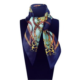 dbb27e5b95be3 Small Square Silk Scarves UK - Imitated Silk Euro Design Belt and Metal  Chain Horse flower
