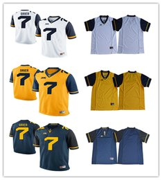 067cac6e5 ... jersey white custom west virginia mountaineers college football limited  white navy blue yellow ...