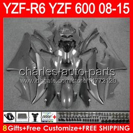 Fairing r6 silver online shopping - 8gifts gloss silver For YAMAHA YZF R6 YZF600 YZF R6 NO79 YZFR6 silver grey Fairing