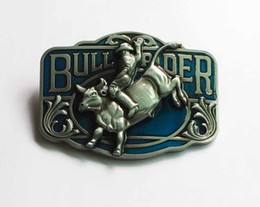 China Hot Sale Wesretn Running Bull Belt Buckle SW-BY603 suitable for 4cm wideth snap on belt with continous stock cheap hot stocking fashion suppliers