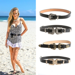 $enCountryForm.capitalKeyWord Canada - Wholesale- Women Fashion Vintage Metal Waistband Waist Band Belt Double Buckle Accessory Free Shipping-448E