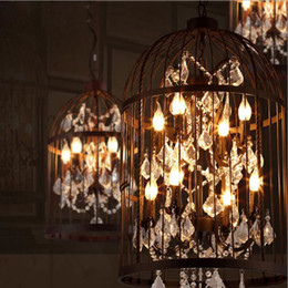 american ault do the old vintage wrought iron chandeliers bird cage lamps crystal lamp living room restaurant villa ac110240v ce - Discount Chandeliers