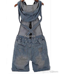$enCountryForm.capitalKeyWord NZ - Macacao Feminino 2016 New Denim Jumpsuit Rompers Womens Jumpsuit Vintage Hole All-matched Jumpsuit Monos Overalls For Women