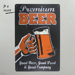Modern wall Metal art online shopping - DL Beer cheers Metal sign wall Decor Garage Shop Bar garage shabby chic modern wall art wall sticker