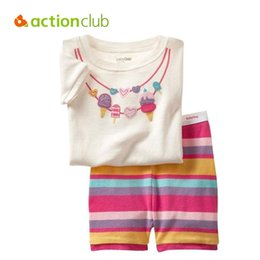 Vêtements De Pyjama En Été Pas Cher-Wholesale- Actionclub 2016 Summer Kids Pyjama Suit Baby Boys Ensemble de vêtements pour filles Ensemble de pantalons pour enfants Pantalons de nuit Chemises à manches courtes