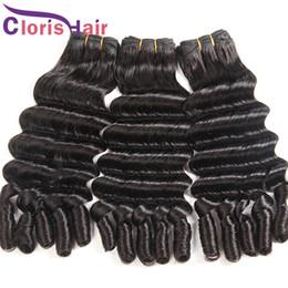 deep curl weft 2019 - Full End Deep Loose Wave Brazilian Virgin Hair Weaves Unprocessed 9A Aunty Funmi Romance Curls Brazillian Human Hair Ext