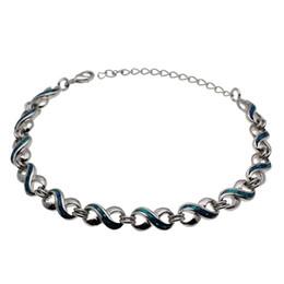 32b62e4060c9 Piedra preciosa natural Azul Opal 8 Diseño 925 Enlaces de plata esterlina  Pulseras Moda Tendy Cadena 8.25