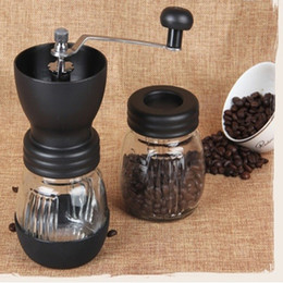 Coffee Beans Grinding NZ - CG01-1, free shipping,Ceramics coffee bean grinder with canister set,coffee grinder,hand Grinding machine,Manual coffee grinder