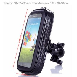 Thl Touch screen online shopping - Touch Screen Waterproof Bicycle Bike Mobile Phone Cases Bags Holders Stands For LG Class H740 Meizu M5c Oneplus THL Knight THL T7 T9
