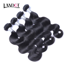 18 inch wavy remy hair online shopping - Brazilian Virgin Hair Body Wave Human Hair Weave Bundles Peruvian Malaysian Indian Cambodian Brazillian Wavy Remy Hair Natural Black B