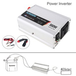 12v Powered Usb Adapter NZ - 500W DC 12V 24V to AC 220V 110V Vehicle Power Inverter USB Adapter Portable Voltage Transformer Car Charger Surge Power 1000W CEC_62O