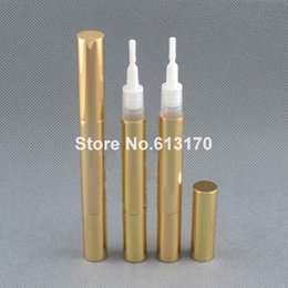 $enCountryForm.capitalKeyWord NZ - Free shipping 3ml Empty eyeliner bottle with brush pen style liquid eye liner tube revitalash bottles cosmetic packing Gold
