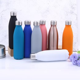 Hot water bottle Hand warmers online shopping - 500ml Cola Shape Water Bottle Sports Stainless Steel Tumbler Outdoors Vacuum Cups Gift Fashion Keep Warm Hot Sale pg4 BV