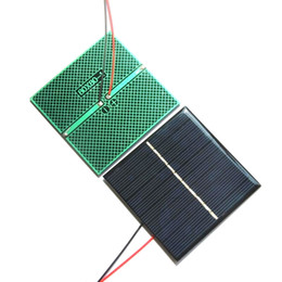 5v mini solar panel UK - BUHESHUI 0.8W 5V Mini Polycrystalline Solar Cell Module+Cable DIY Solar Panel Charger For 3.7V Battety Study 10pcs lot 80*80*3MM
