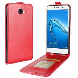 6b1d376dc204 Crazy Horse Flip Leather Case For Huawei Enjoy 7S Y7 Y3 Honor 9 Y5 II Y5  2017 P8 Lite Redmi 4X OPPO R11 ID Card Photo Pouch TPU Cover 10pcs