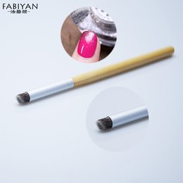 color change pen 2019 - Wholesale- 1pcs Nail Art Design Brush Color Change Gradient Gradual Nylon Blooming UV Gel Polish Painting Drawing Pen Br