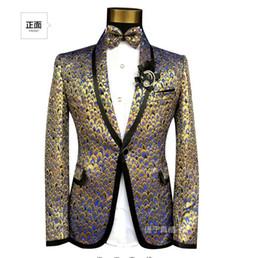 Wholesale- New arrival (suit +pant ) ! Men suits Men singers perform MC chorus  stage fit suit wedding suit jacket formal dress costumes ! 58c4eeaf390a