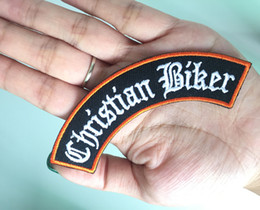 christian wholesalers Canada - Quality Christian Biker Rocker Bar Club Motorcycle Biker Uniform Embroidered Iron On Sew On Badge Applique Patch Free Shipping
