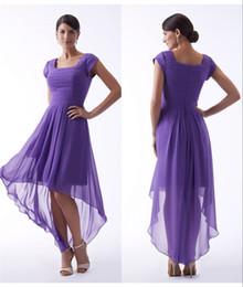 Hi Low Wedding Dresses Light Purple NZ - Purple High Low Short Modest Bridesmaid Dresses 2017  sc 1 st  DHgate.com & Hi Low Wedding Dresses Light Purple NZ | Buy New Hi Low Wedding ...