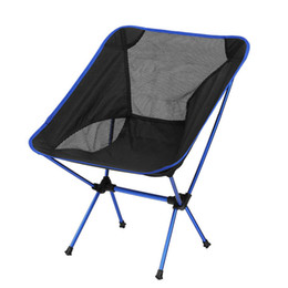Aluminum Camp Chairs Canada - Wholesale- New Singda Brand Outdoor Portable Folding Fishing Chair Picnic BBQ Backrest Beach Camping Chair Aluminum Alloy Stool 4 Colors