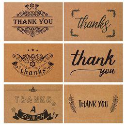 Retro ZAKKA Kraft Paper Birthday Card With Envelope Thank You Nostalgic Blessing Greeting Party Supply