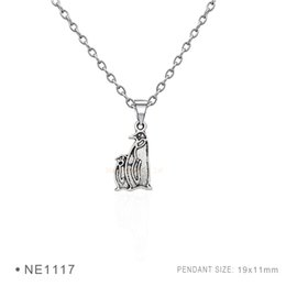 Penguin pendant necklace online penguin pendant necklace for sale penguin pendant charms fashion antique silver pendant 3d plated collar body chain necklaces for women girls boys jewelry mozeypictures Images