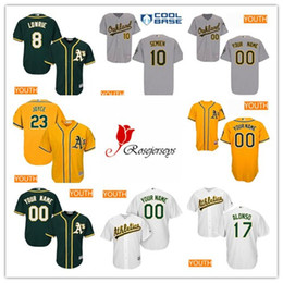 022798f59 ... Yonder Alonso Jersey Youth Custom Oakland Athletics 11 Rajai Davis 66  Ryan Dull 31 Liam Hendriks 2017 ...