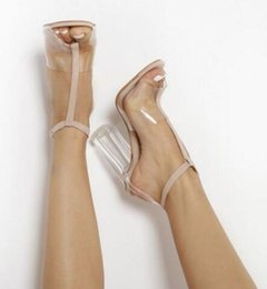 Image result for clear block heel sandals