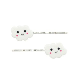 $enCountryForm.capitalKeyWord NZ - Adorable smile cloud hair clips white resin kids copper hairpins best children gift with card package