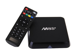 M8s S812 Tv Box NZ - 10PCS [Genuine] M8S+ M8S Plus Android5.1 TV Box Amlogic S812 Quad-Core 2.4G&5G Wifi 2GB 8GB H.265 Gigabit-Lan Bluetooth4.0 android tv box