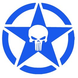 $enCountryForm.capitalKeyWord Canada - Punisher Military Army Star Serious Eye-catching Signs Car Sticker Truck Window Bumper Door Laptop Kayak Vinyl Decal car styling Jdm