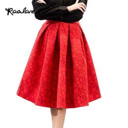 Chinese  Raodaren Women High Waist Skirts Midi Summer Sexy Dress Pleated Knee-Length Saia Feminina Plus Size Casual manufacturers