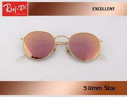 e60e58db9d Gafas de sol redondas mujeres de la manera de la señora gafas de sol marco  de metal marca diseñador círculo retro vintage gafas de sol oculos gafas de  ...