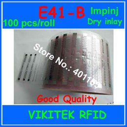 Impinj Rfid UK - Wholesale- Impinj E41-B UHF RFID dry inlay 100pcs per roll 860-960MHZ Monza4 915M EPC C1G2 ISO18000-6C can be used to RFID tag and label