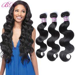 $enCountryForm.capitalKeyWord Canada - BD Brazilian Virgin Hair Body Wave Human Hair Can Dye And Iron 3 4 Bundles One Set Hair Extensions