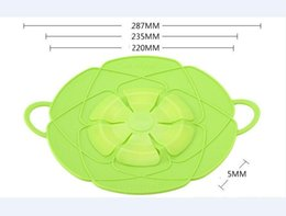 $enCountryForm.capitalKeyWord Canada - Multi-functional Silicone Cover Lid Spill Stopper for Pot and Pan Kitchen Accessories Cooking Tools Cookware Parts
