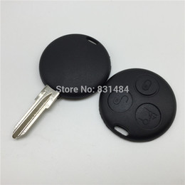 Keys Chip Shell Australia - 3 Buttons Replacement Uncut Blank Blade Car Key Case Shell Fit For Mercedes Benz Smart Fortwo No Chip