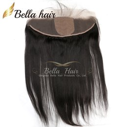 """Discount unprocessed virgin hair silk closure - Brazilian Hair Virgin Unprocessed Human Hair Extensions 13x4"""" Lace Frontal with Silk Base Ear to Ear Closures Silky"""