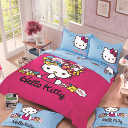 Wholesale Our Hot Sale Bedding Set,Hello Kitty Bed Set, Comfortable  Bedclothes,Hello Kitty Bed Duvet Cover Full, Queen King Size,3 4 Pcs