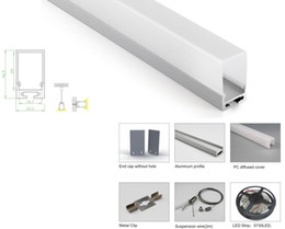 24v Pendant Australia - 10 X 1M sets lot 6063 alloy aluminum profile for led light and Deep cover alu channel for recessed wall or pendant lamps