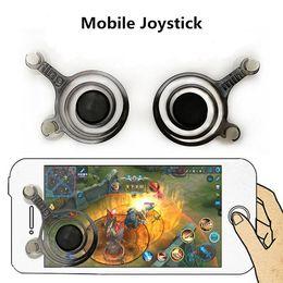 Discount gaming controller for mobile - Fling Mini Mobile Joystick Mini Game Rocker Touch Screen Joypad Wireless Game Controller Dual Analog joysticks for samrt
