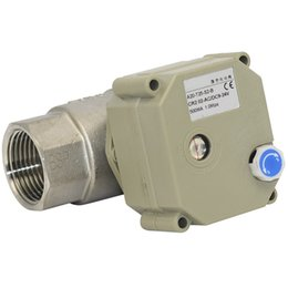 ShipS water valve online shopping - Ways DN25 AC DC V V SS304 ball valve thermo electric valve with indicator with manual operation