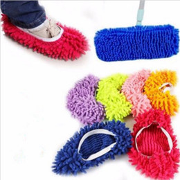 Barato Meias Preguiçosas-Creative Lazy Foot Socks Mopping Shoes Microfiber Mop Floor Cleaning Mophead Floor Polishing Cleaning Cover Cleaner