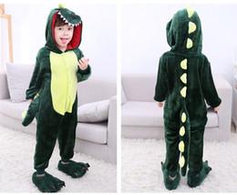 Унисекс Мальчик Девочка ребенок пижамы Kigurumi косплей фланель животных  костюм Onesie пижамы подарок зеленый динозавр 342aa1d8f7e89