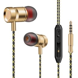 $enCountryForm.capitalKeyWord Canada - Luxury Metal HiFi Stereo Earphones 3.5mm In-Ear Noise Cancelling Earbuds Sport Running Deep Bass Headset fone de ouvido with Mic