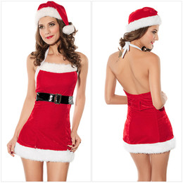 christmas costumes adult women NZ - Hot sale high quality Women Christmas Lingerie Babydoll Uniform Backless Porno Temptation Christmas Costume Adult Cosplay