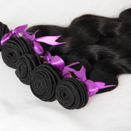 $enCountryForm.capitalKeyWord Canada - Brazilian Body Wave Bundles Natural Black 5pcs human hair weave sale remy hair bundles double drawn,No shedding,tangle free